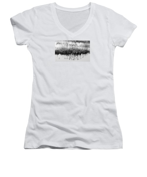 Women's V-Neck T-Shirt (Junior Cut) featuring the photograph A Winter Bouquet by I'ina Van Lawick