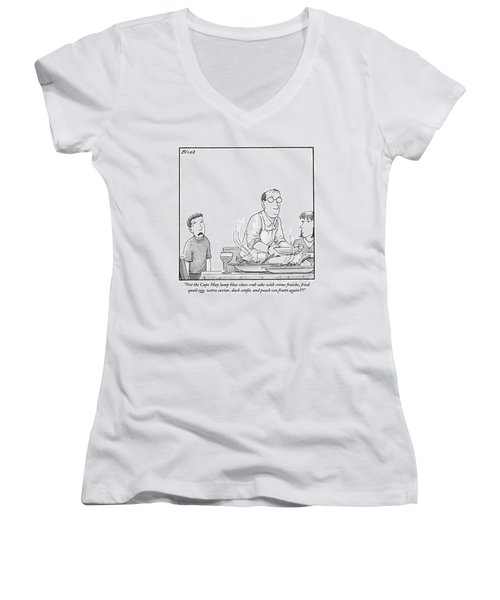 A Young Boy Complains About What's For Dinner Women's V-Neck