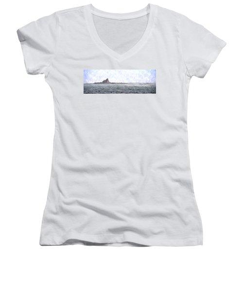 Abandoned Dreams Abwc Women's V-Neck T-Shirt (Junior Cut)