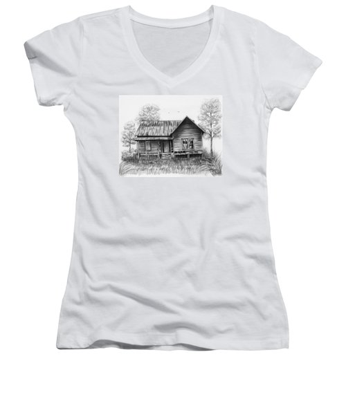 Abandoned House Women's V-Neck T-Shirt
