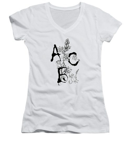A B C  Women's V-Neck (Athletic Fit)
