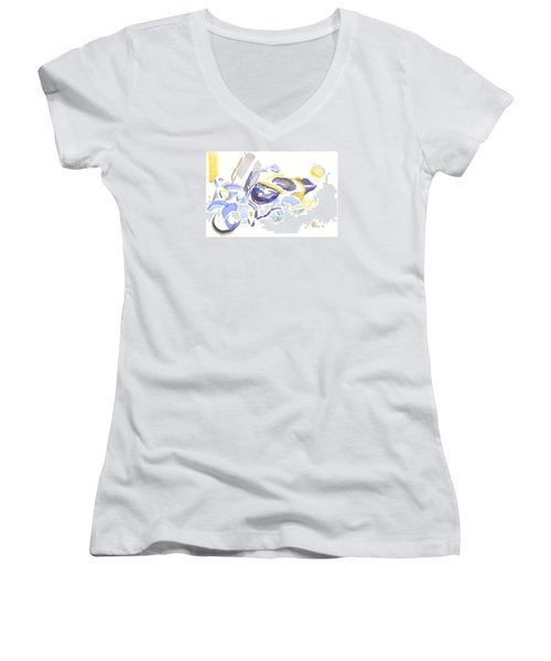Abstract Motorcycle Women's V-Neck (Athletic Fit)
