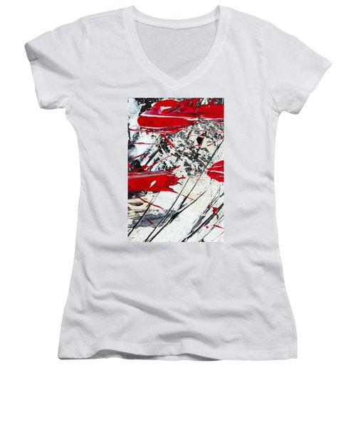 Abstract Original Painting Untitled Ten Women's V-Neck