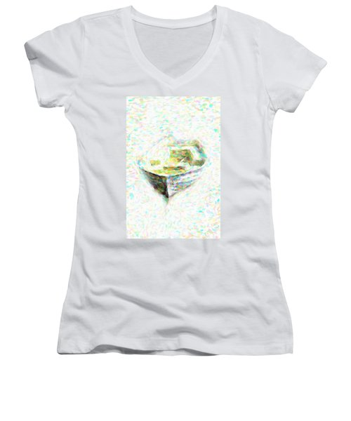 Abstract Rowboat Women's V-Neck T-Shirt