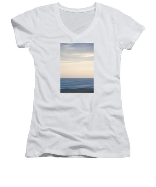 Abstract Seascape No. 04 Women's V-Neck T-Shirt