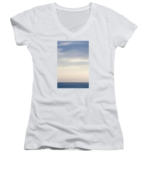 Abstract Seascape No. 05 Women's V-Neck T-Shirt