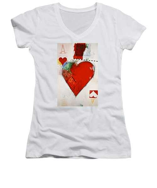 Ace Of Hearts 8-52 Women's V-Neck