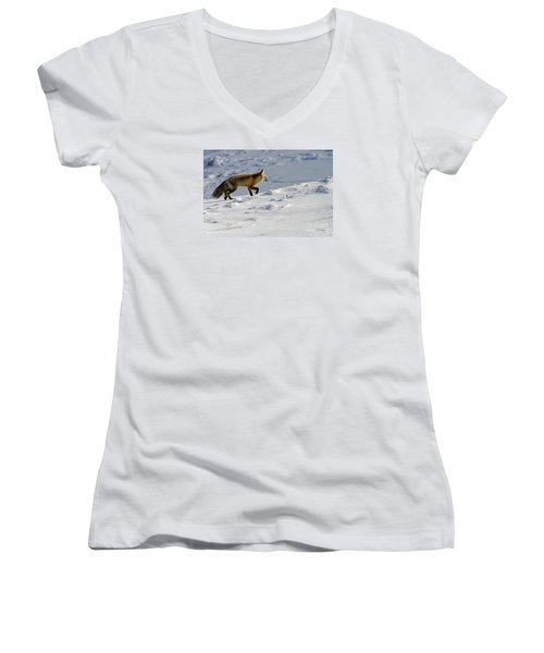 Against The Glare-signed Women's V-Neck (Athletic Fit)