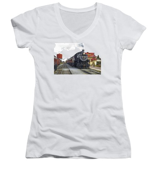All Aboard Women's V-Neck T-Shirt