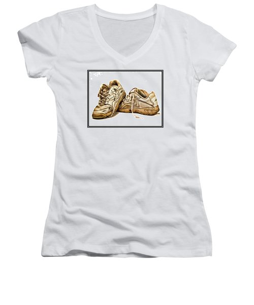 All Worn Out Women's V-Neck