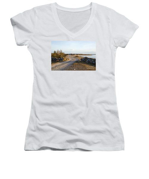 Along The Coast Women's V-Neck (Athletic Fit)