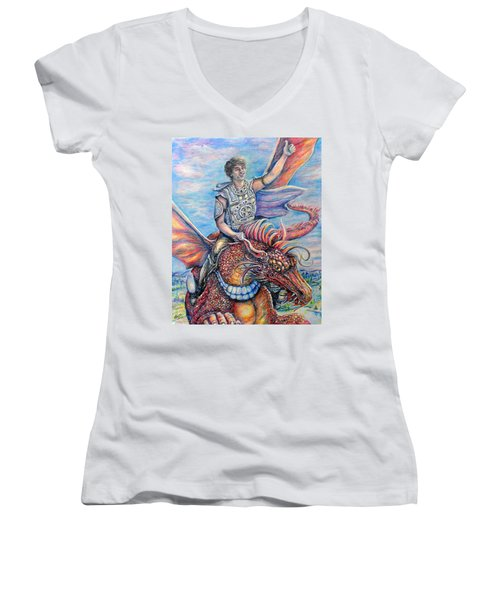 Amazing Rider Women's V-Neck T-Shirt