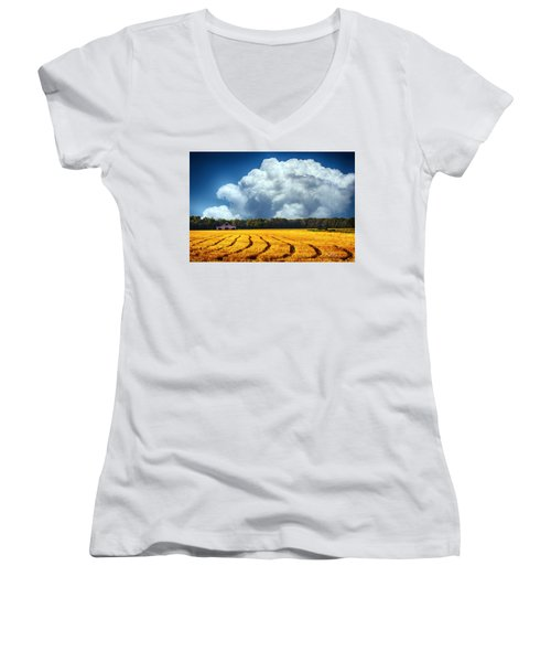 Amber Fields Women's V-Neck T-Shirt