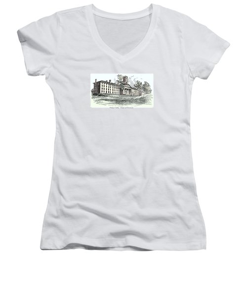 Amherst College - Chapel And Dormitories Women's V-Neck (Athletic Fit)