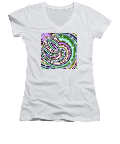 Women's V-Neck T-Shirt (Junior Cut) featuring the digital art And He Called Them Stars by Luther Fine Art