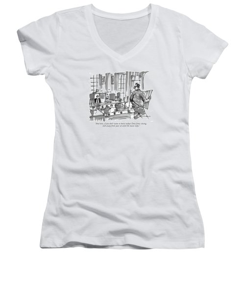 And Now, If You Don't Want To Know Today's Dow Women's V-Neck