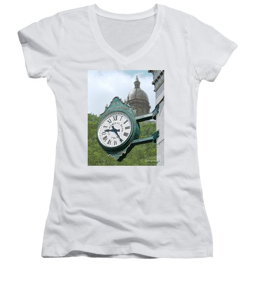 And The Time Is Women's V-Neck