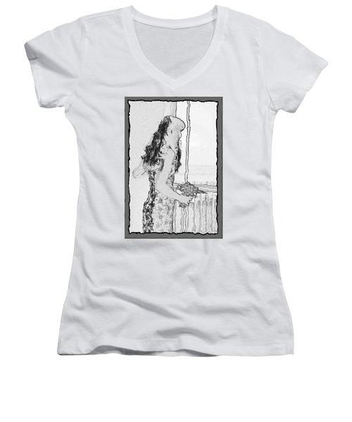 Anxiously Waiting Women's V-Neck T-Shirt
