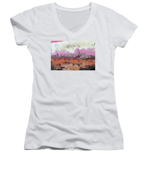 Ap24 O Women's V-Neck T-Shirt (Junior Cut) by Fran Riley
