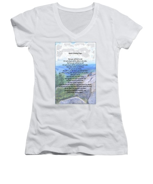 Apache Wedding Prayer Women's V-Neck T-Shirt
