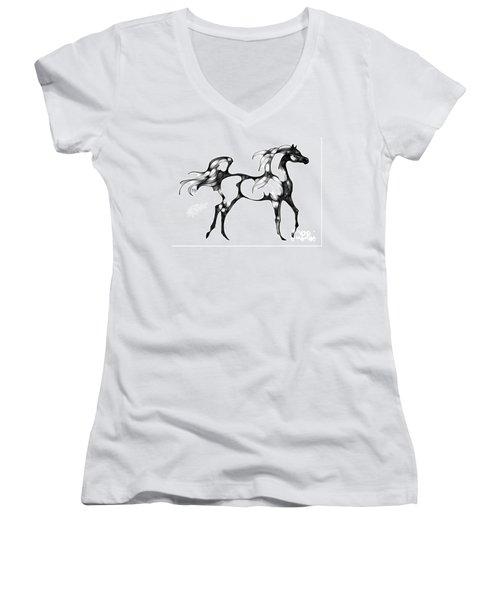 Arabian Horse Overlook Women's V-Neck (Athletic Fit)