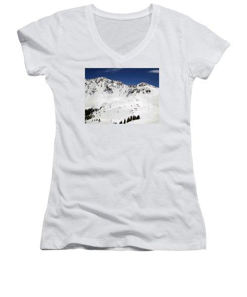 Arapahoe Basin Ski Resort - Colorado          Women's V-Neck T-Shirt