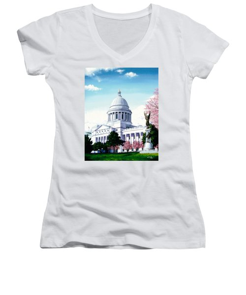 Arkansas Capitol Blossoms Women's V-Neck