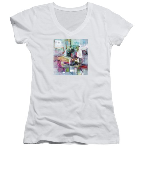 Art And Music Women's V-Neck T-Shirt (Junior Cut) by Michelle Abrams
