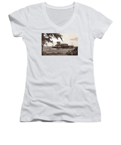 Tugboat From Louisiana Katrina Women's V-Neck T-Shirt