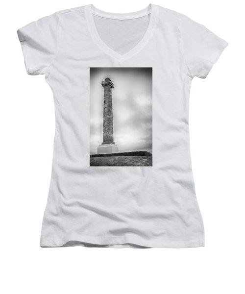 Astoria The Column Women's V-Neck T-Shirt (Junior Cut) by David Millenheft