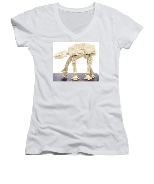 At-at All Terrain Armored Transport Women's V-Neck