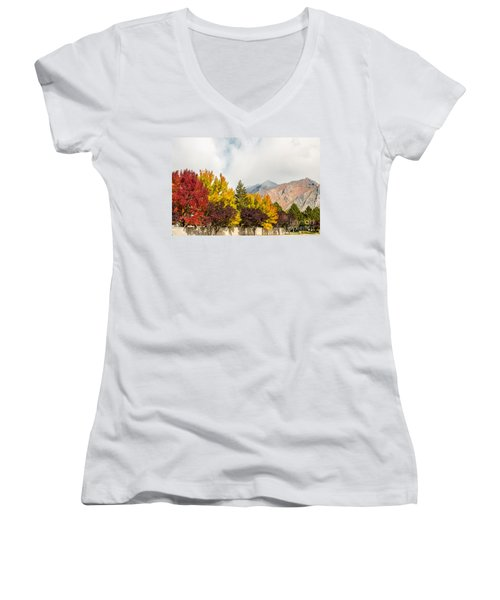 Autumn In The City Women's V-Neck T-Shirt
