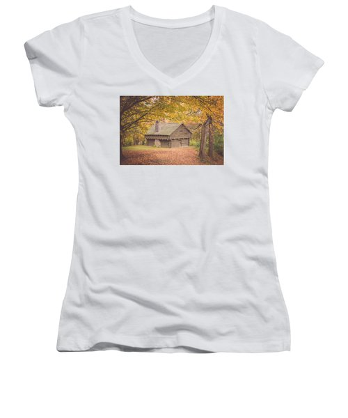 Autumn Retreat Women's V-Neck T-Shirt