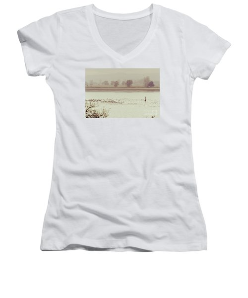 Autumnal Dreamland Iv Women's V-Neck (Athletic Fit)