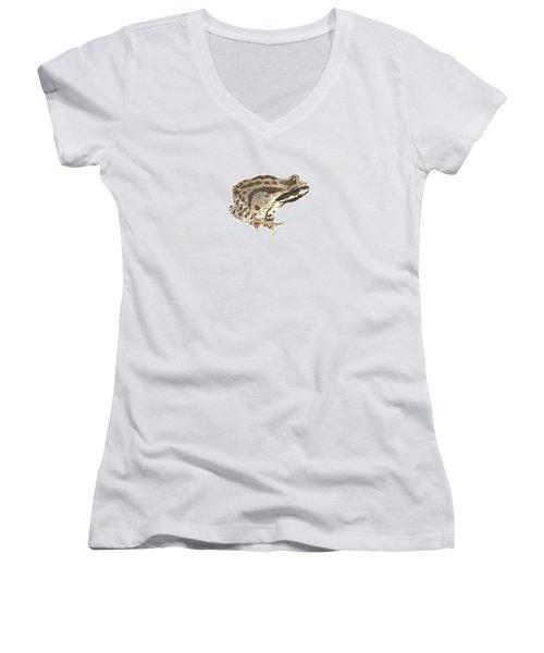 Baja California Treefrog Women's V-Neck T-Shirt (Junior Cut) by Cindy Hitchcock