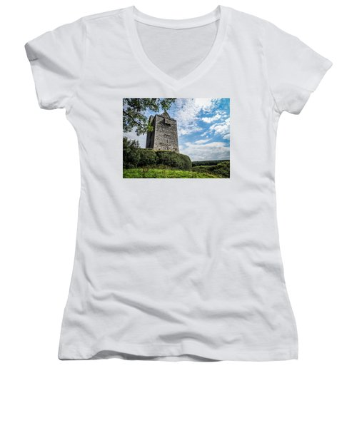 Ballinalacken Castle In Ireland's County Clare Women's V-Neck