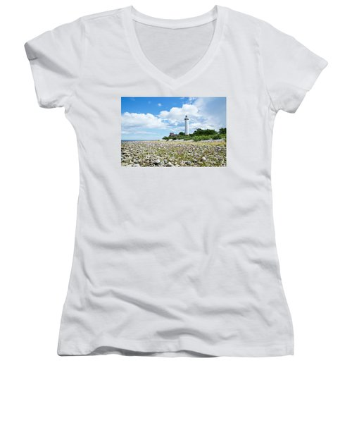 Baltic Sea Lighthouse Women's V-Neck (Athletic Fit)