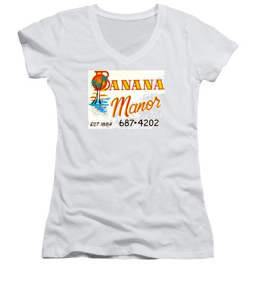 Banana Manor Women's V-Neck (Athletic Fit)