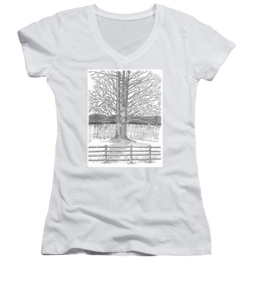 Barrytown Tree Women's V-Neck