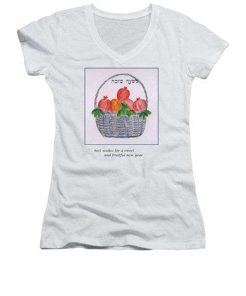 Basket For The New Year Women's V-Neck