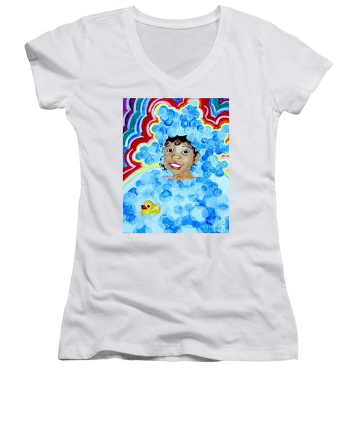 Bath Time Women's V-Neck