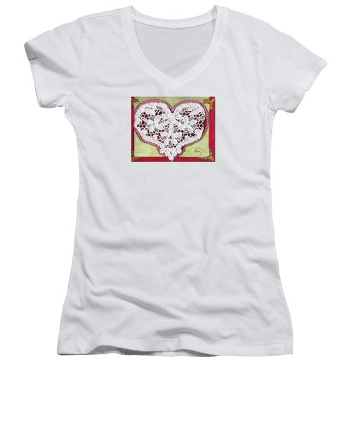 Be My Valentine Women's V-Neck (Athletic Fit)