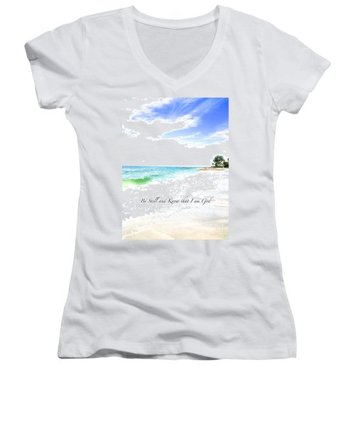 Be Still #3 Women's V-Neck T-Shirt