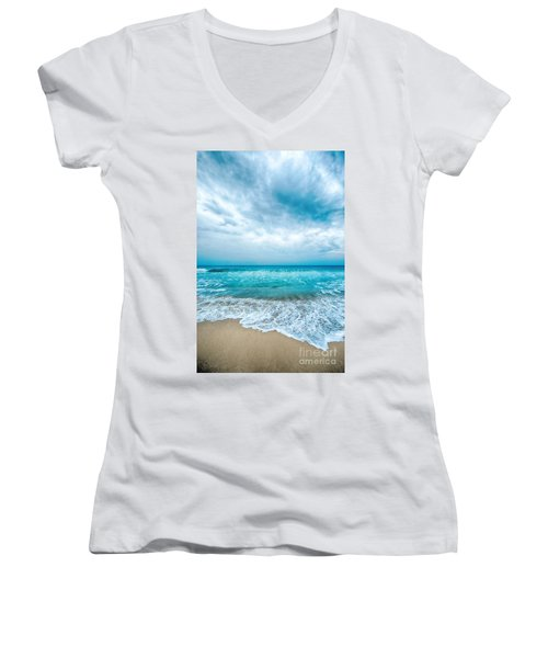Beach And Waves Women's V-Neck