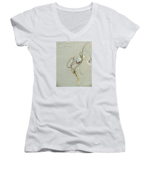 Beach Arrangement 5 Women's V-Neck T-Shirt (Junior Cut) by Marcia Lee Jones