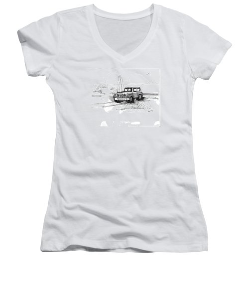 Beach Buggy Ocracoke 1970s Women's V-Neck