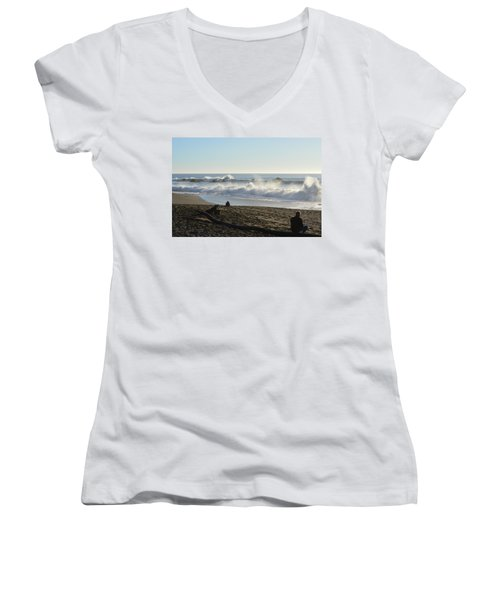 Beach Life Women's V-Neck (Athletic Fit)