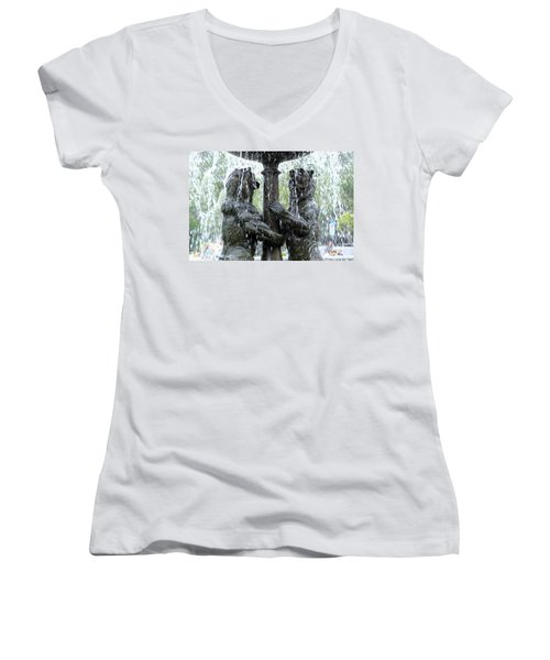 Bear Fountain Women's V-Neck T-Shirt