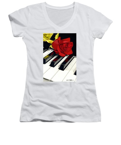 Beautiful Music Women's V-Neck (Athletic Fit)