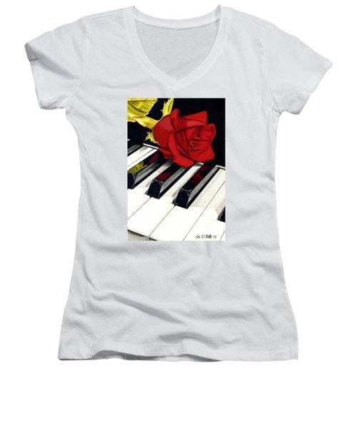 Beautiful Music Women's V-Neck T-Shirt